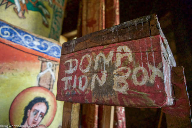 Ethiopia, Bahar Dar, Donation Box