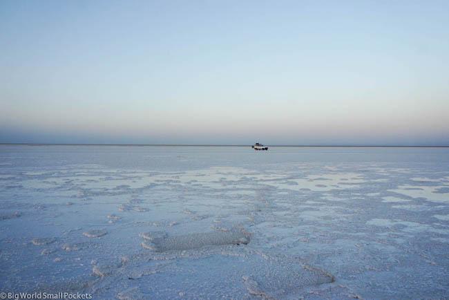 Ethiopia, Danakil Depression, Lake Asale 4wd