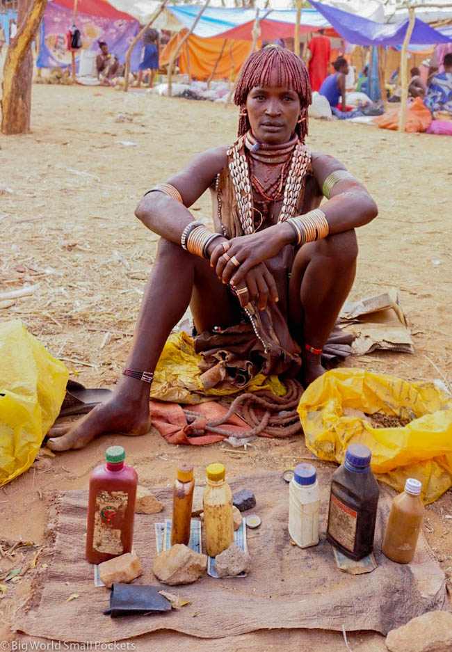 Ethiopia, Hamar, Tobacco Seller