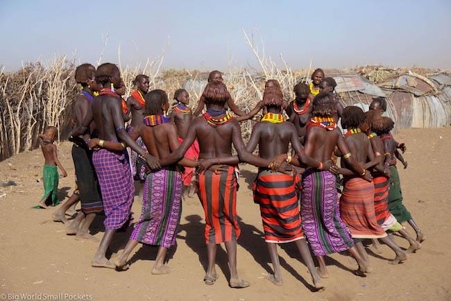 Ethiopia, Omo Valley, Daasanach Dancing