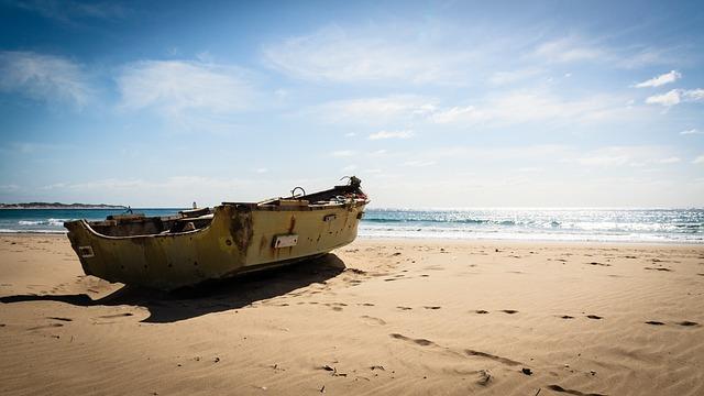 Mozambique, Tofo, Boat