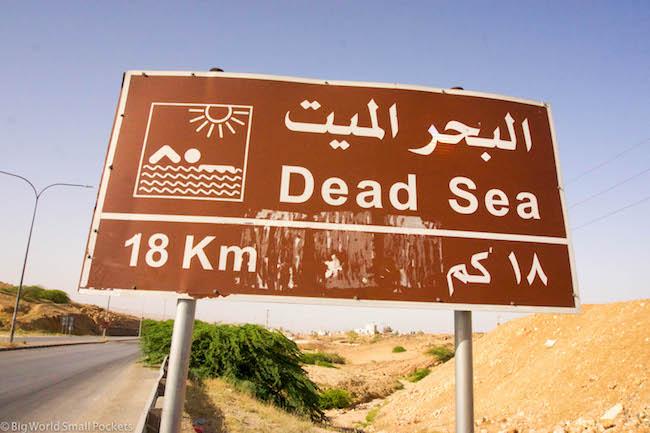 Jordan, Dead Sea, Sign