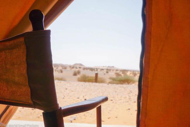 Sudan, Meroe, Tent View