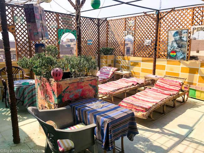 Luxor, Bob Marley Hostel, Roof Terrace