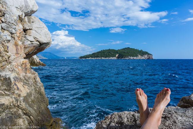 Croatia, Dubrovnik, Me and Feet
