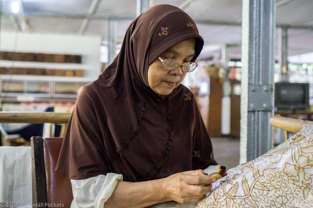 Indonesia, Yogyakarta, Batik Making