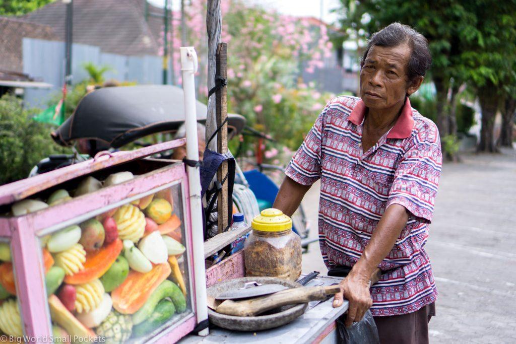 Indonesia, Yogyakarta, Street Seller