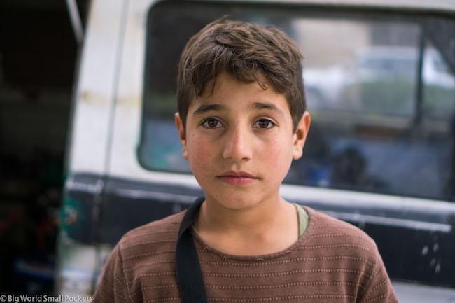 Lebanon, Baalbeck, Syrian Boy