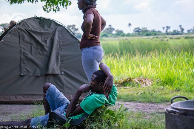 Botswana, Okavango Delta, At Camp