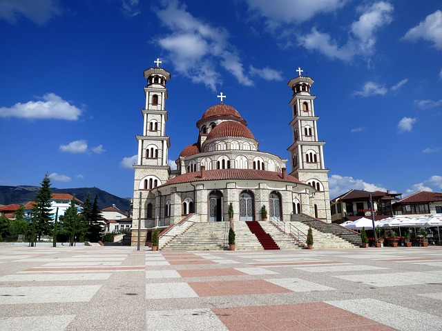 Albania, Church, Plaza View
