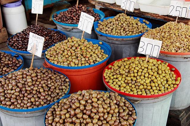 Albania, Market, Olives