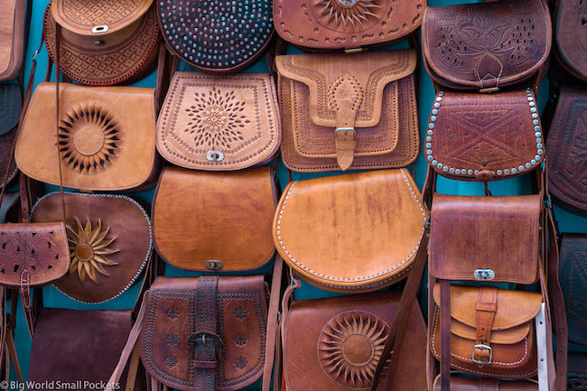 Morocco, Chefchaouen, Bags