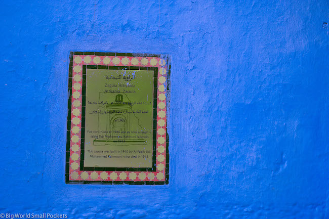 Morocco, Chefchaouen, Heritage Signs