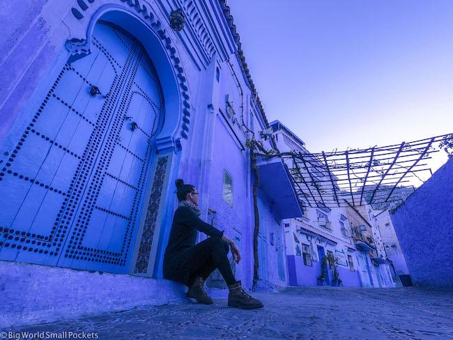 Morocco, Chefchaouen, Me in Doorway