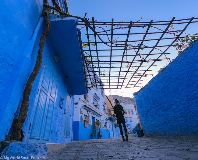 Morocco, Chefchaouen, Me in Streets