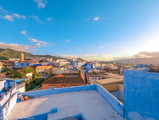 Morocco, Chefchaouen, Rooftop