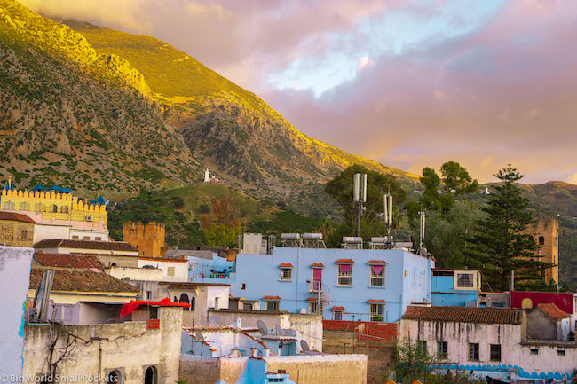 Morocco, Chefchaouen, Sunset