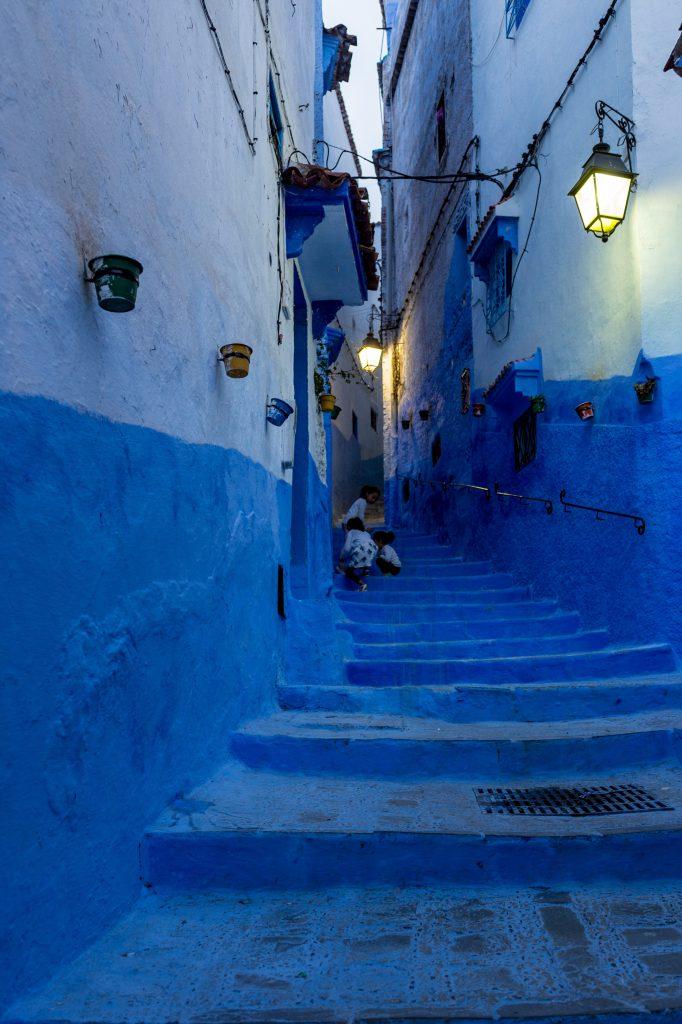 Morocco, Chefchouen, Children