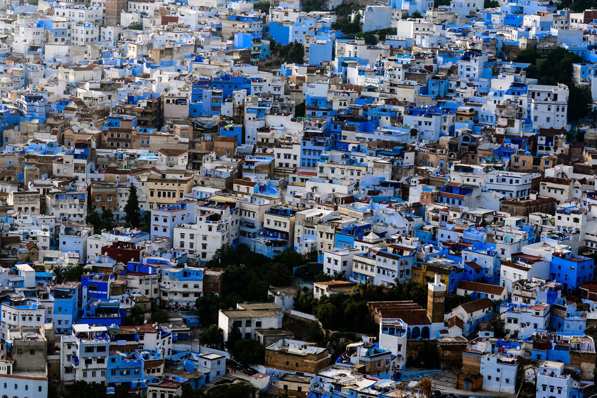 Morocco, Chefchouen, Cityscape