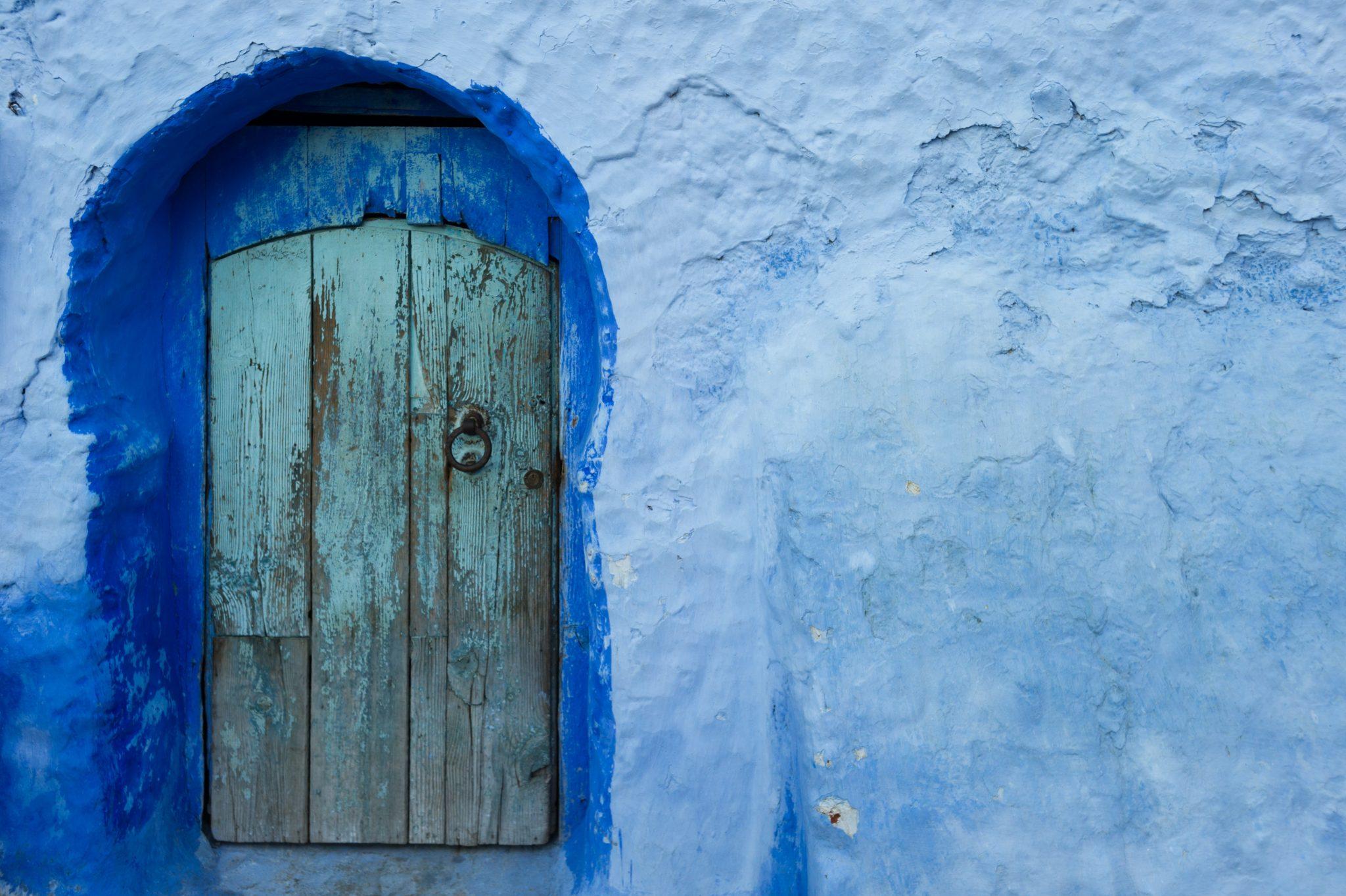 Morocco, Chefchouen, Doorway