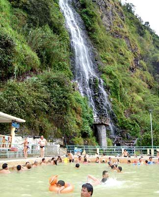 Ecuador, Baños, Waterfall