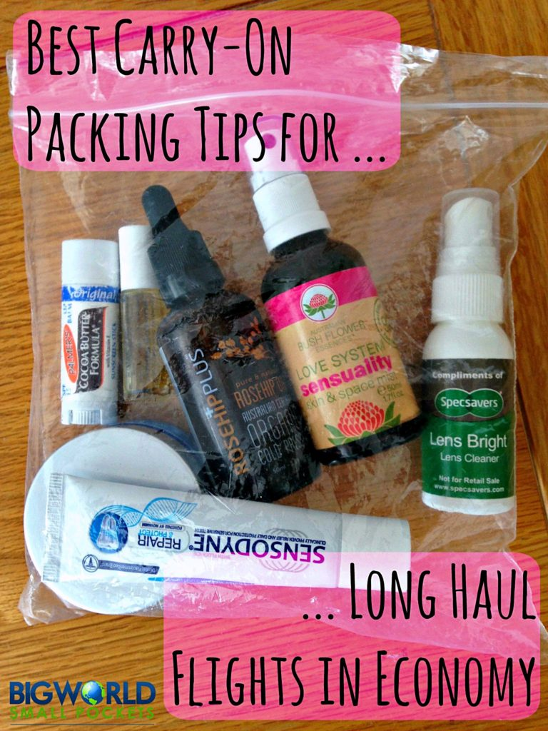 Best Carry On Packing Tips for Long Haul Flights in Economy {Big World Small Pockets}