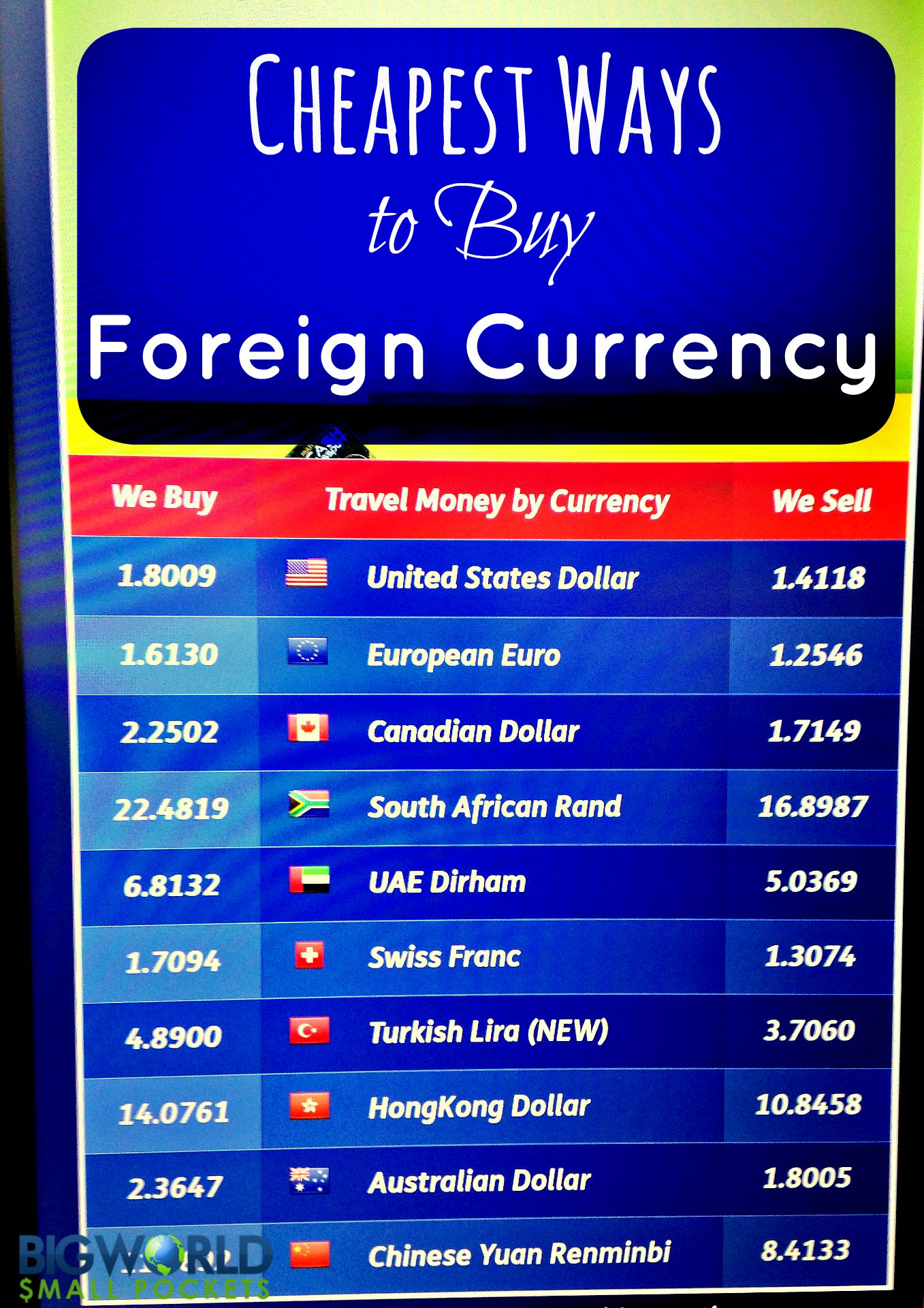Est Ways To Foreign Currency