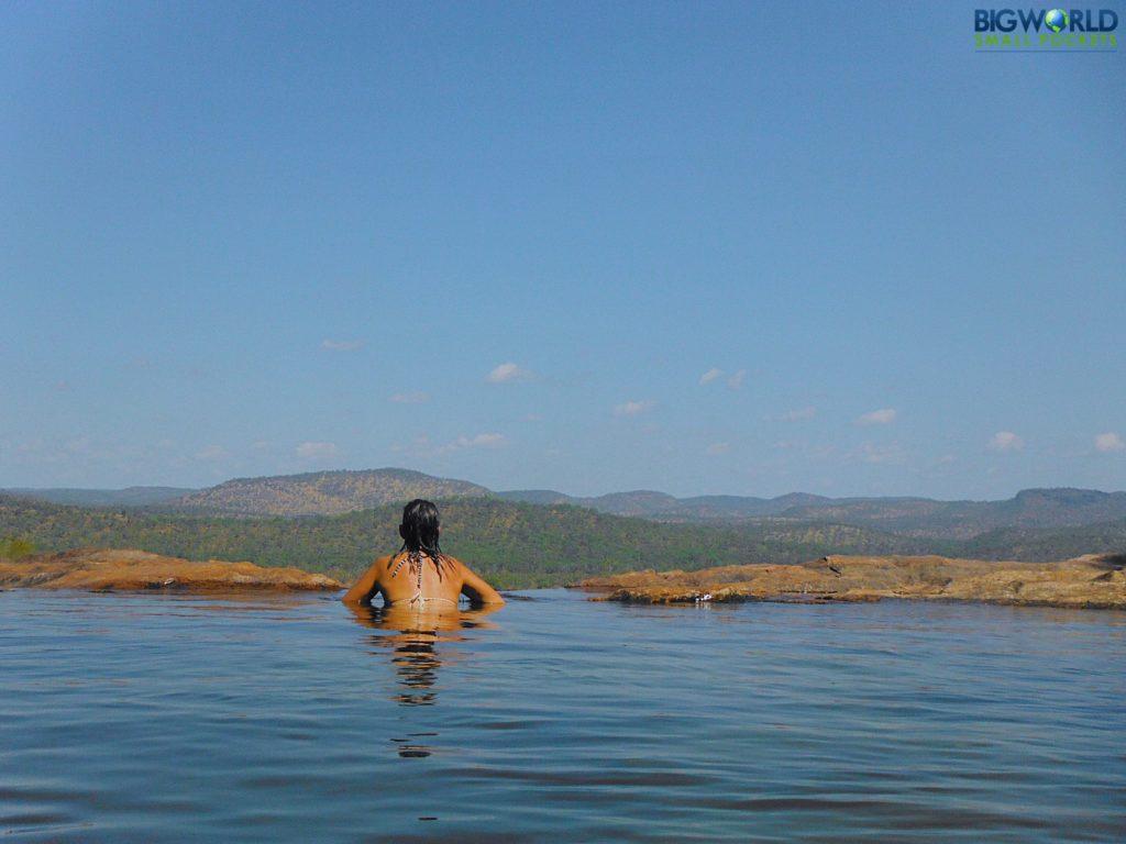 Swim at Gunlom Falls