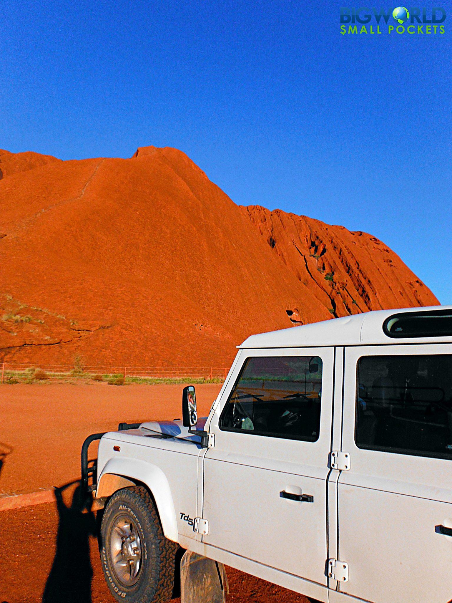 Landie at Uluru