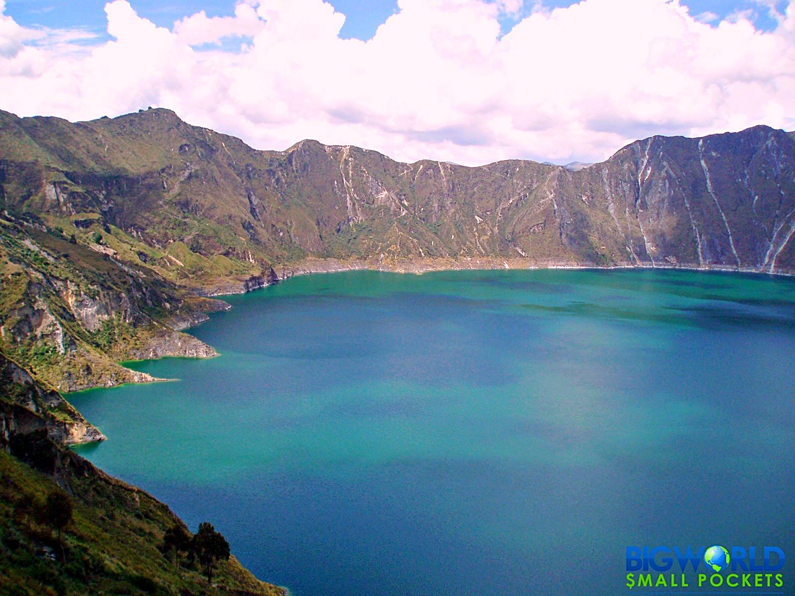 Ecuador, Quilotoa, Lake View