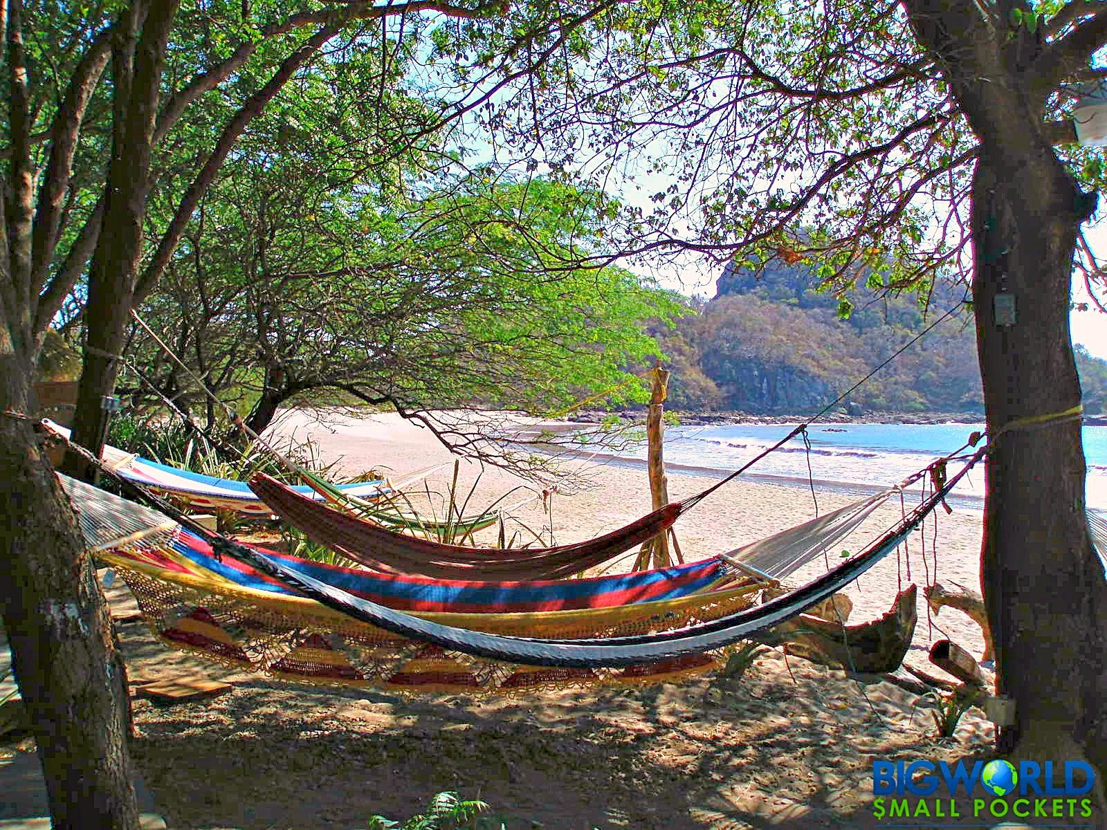 Central America, Beach, Hammocks