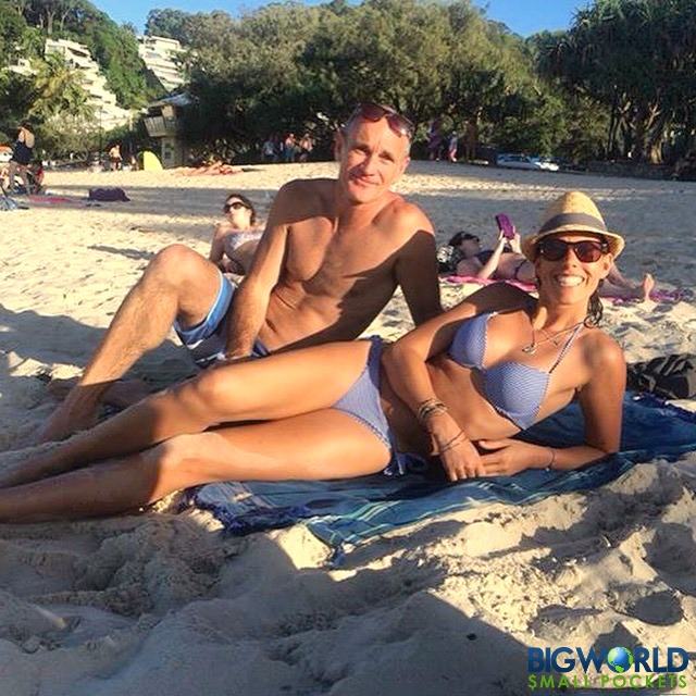 Us at Noosa Beach