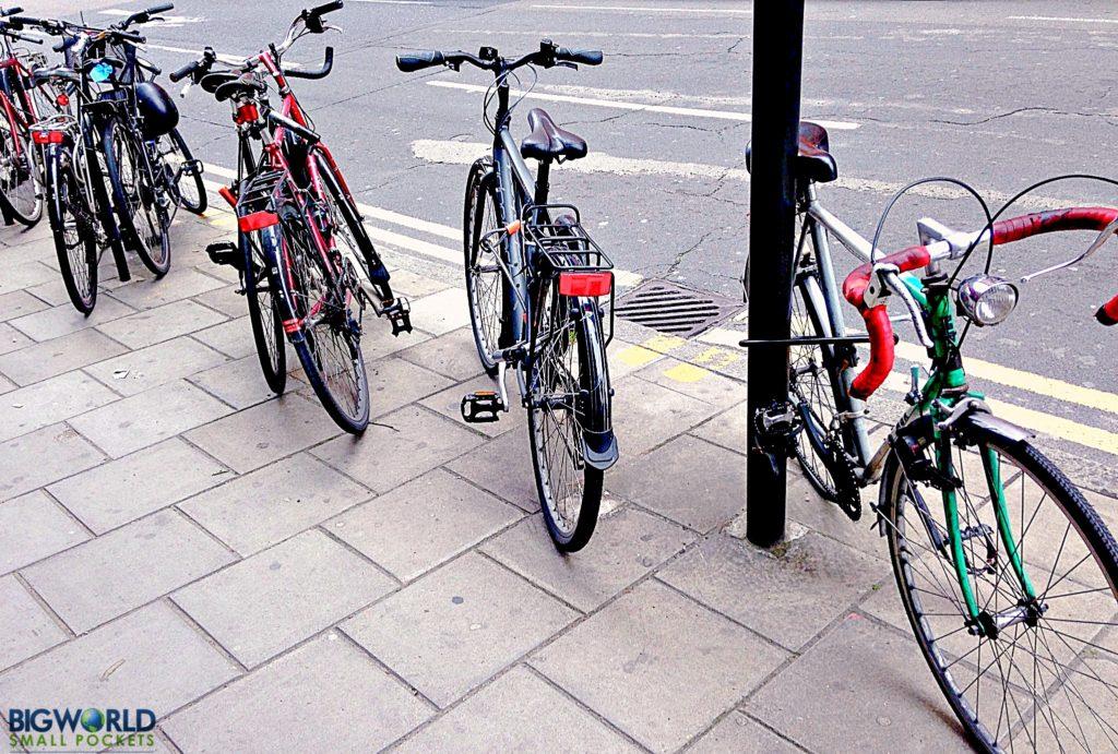London Bikes in a row