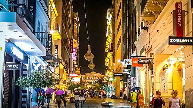 Greece, Athens, Night