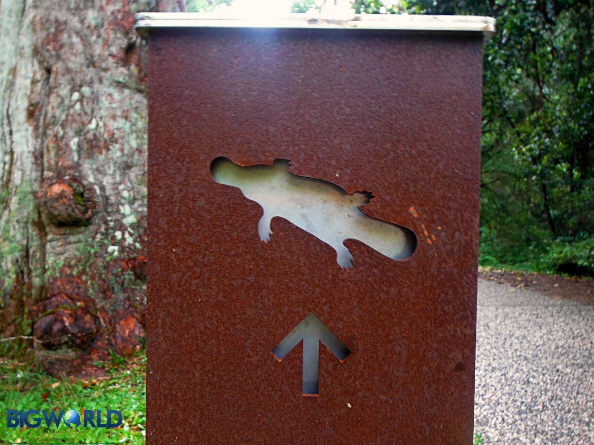 Australia, Eungella, Platypus Sign