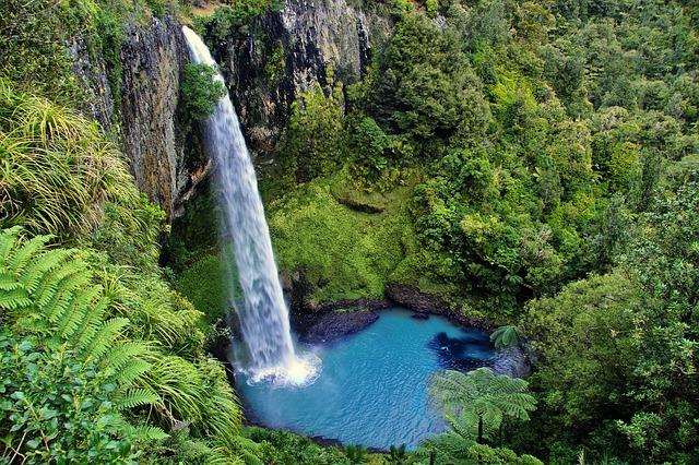 New Zealand, North Island, Bridal Veil Falls