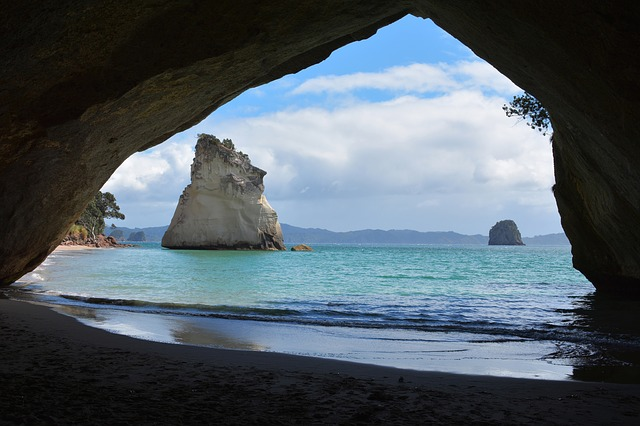 New Zealand, North Island, Cathedral Cove