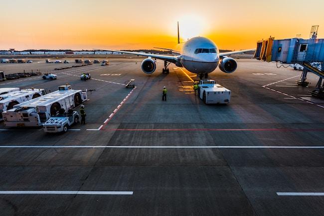 Airport, Golden Hour, Plane