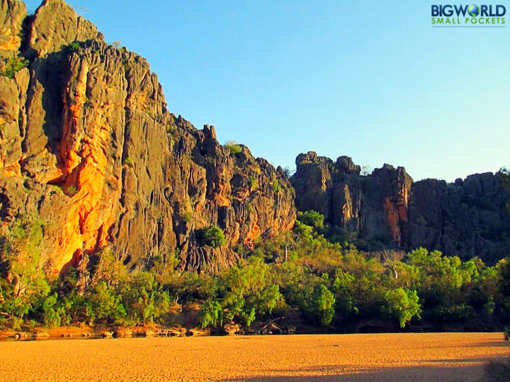 Australia, WA, Windjana Gorge Sunset