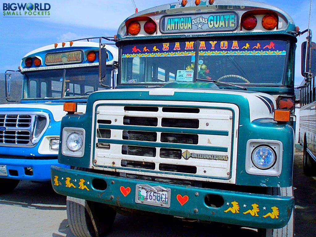 Guatemala, Transport, Chicken Buses