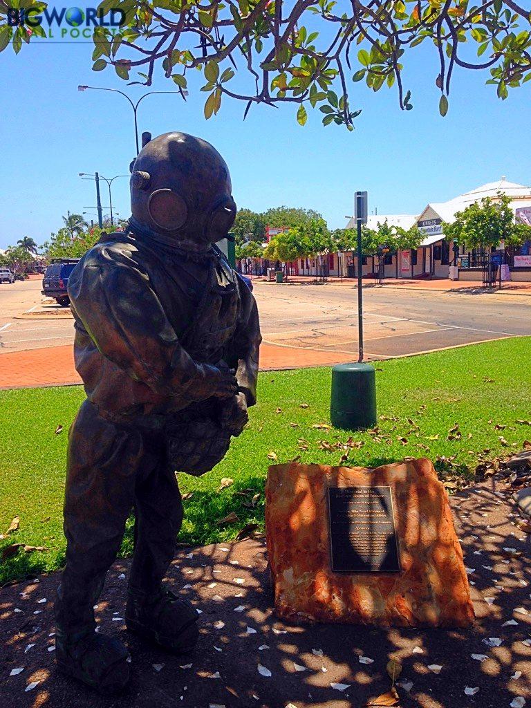 Australia, Broome, Diver Statue