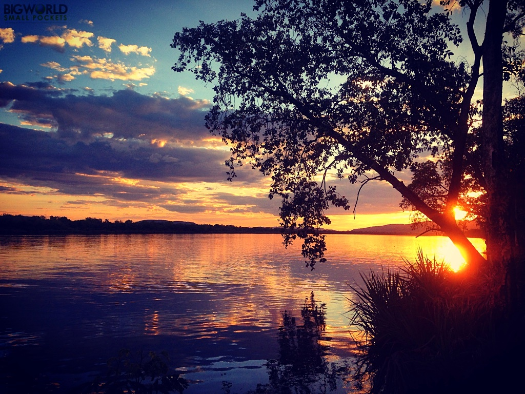 Australia, Lake Kununurra, Sunset