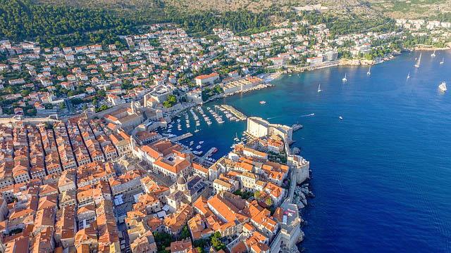Croatia, Dubrovnik, Aerial jpg