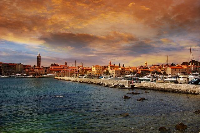 Croatia, Rab, Port