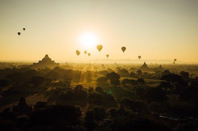 Myanmar, Bagan, Sunrise