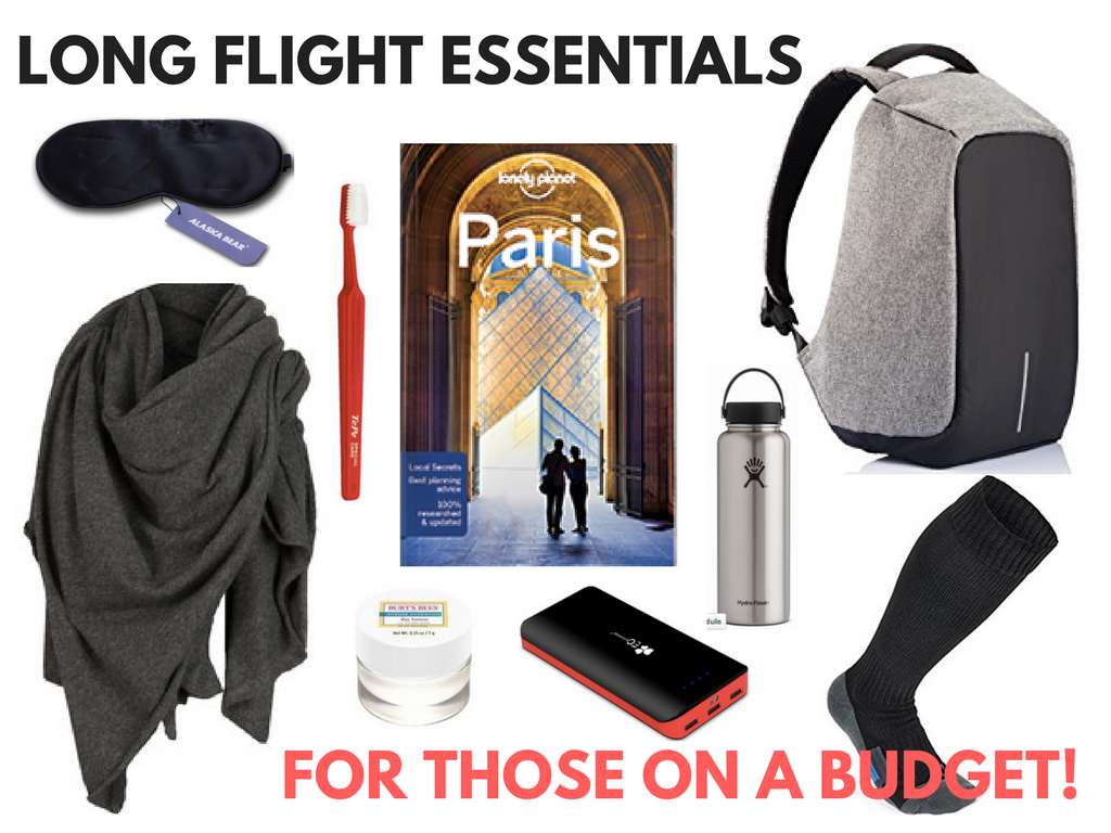 12 Long Flight Essentials ... For Those on a Budget!