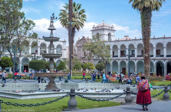 Peru, Arequipa, Plaza De Armas