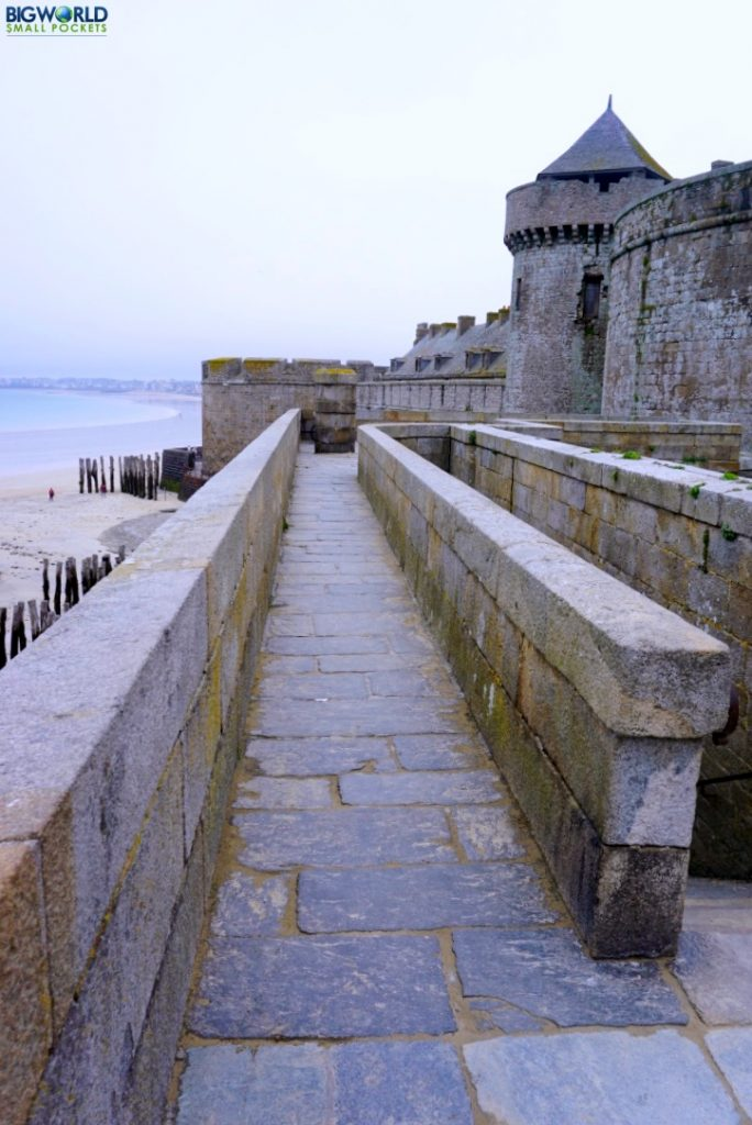France, St Malo, Ramparts