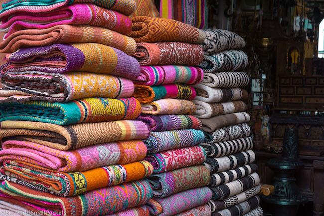 Peru, Arequipa, Fabrics