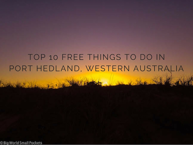 Top 10 Free Things to do in Port Hedland, Western Australia